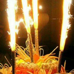 Свечи и фонтаны на торт