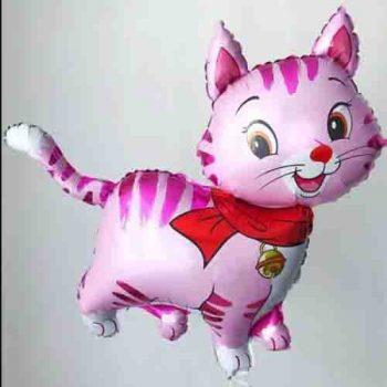 Фольгированный гелиевый шарик розовая кошечка
