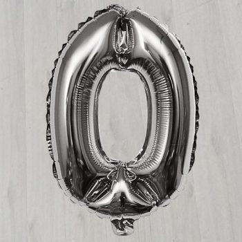 Ноль с гелием серебряный 1м