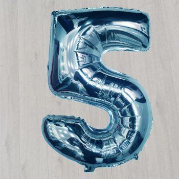 """5 42"""" фольгированная синяя с гелием"""
