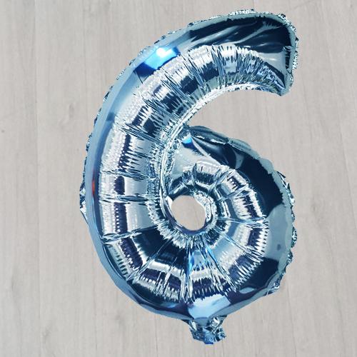 Фигура метровая фольгированная с гелием синяя
