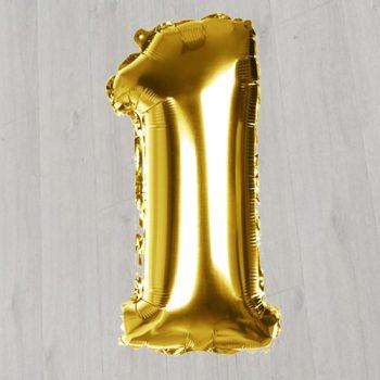 Золотая единица с гелием 1метр