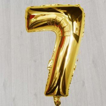 Цифра 7 с гелием 42 дюйма 1 метр
