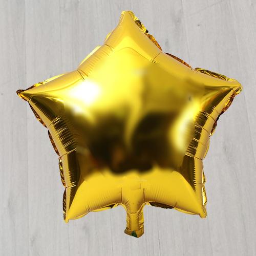 Звезда с гелием золотая 18 дюймов
