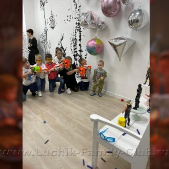 Нерф шоу от команды аниматоров на детский день рождения