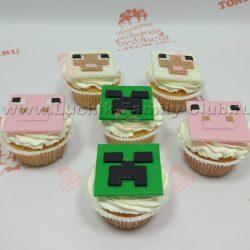 Набор пирожных на заказ на детский день рождения майнкрафт