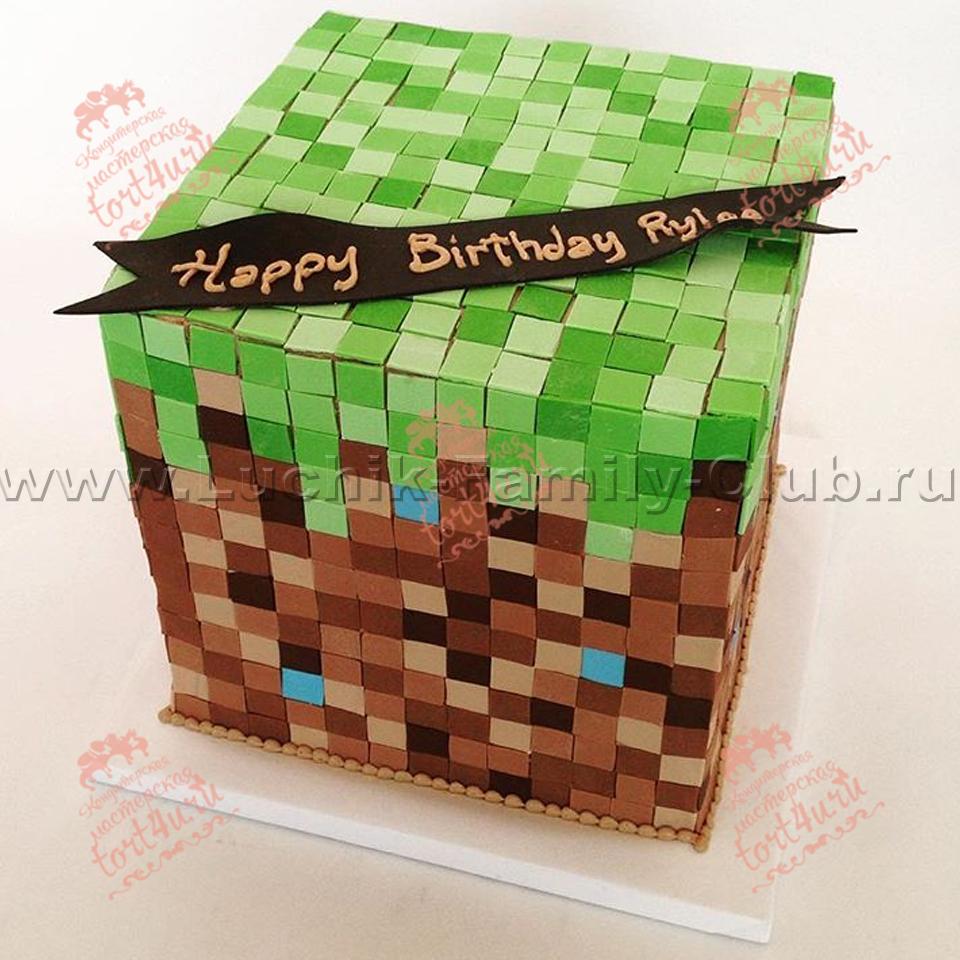 Торт на заказ на детский день рождения майнкрафт