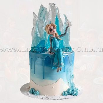 Торт на заказ на детский день рождения Холодное Сердце