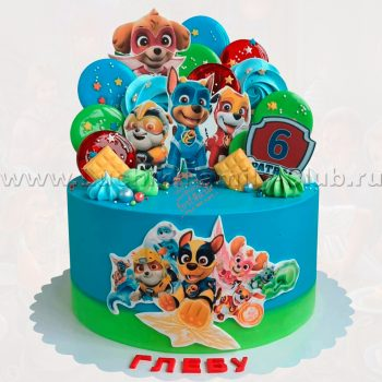 Торт на заказ на детский день рождения Щенячий Патруль